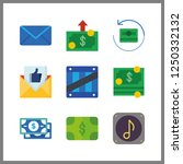 9 send icon. vector... | Shutterstock .eps vector #1250332132