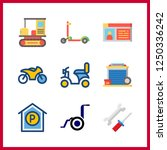 9 motor icon. vector... | Shutterstock .eps vector #1250336242