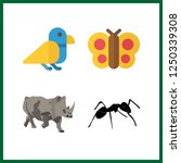 4 wildlife icon. vector... | Shutterstock .eps vector #1250339308