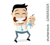 happy father with his new born... | Shutterstock .eps vector #1250352325