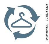 second hand icon symbol flat...   Shutterstock .eps vector #1250355325