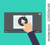 hand touching screen  online... | Shutterstock .eps vector #1250356168