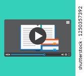 online learning  online video ... | Shutterstock .eps vector #1250357392