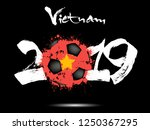 abstract number 2019 and soccer ... | Shutterstock .eps vector #1250367295