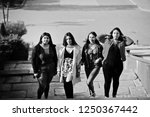 group of four happy and pretty...   Shutterstock . vector #1250367442