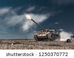 Army Tank Firing In The War...