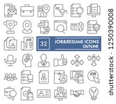 job and resume thin line icon... | Shutterstock .eps vector #1250390008