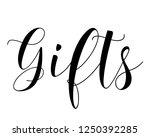 black typography calligraphy... | Shutterstock .eps vector #1250392285