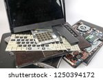 obsolete laptops isolated on... | Shutterstock . vector #1250394172