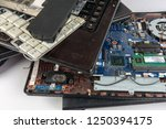 obsolete laptops isolated on... | Shutterstock . vector #1250394175