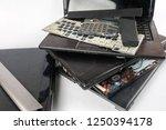 obsolete laptops isolated on... | Shutterstock . vector #1250394178