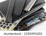 obsolete laptops isolated on... | Shutterstock . vector #1250394202