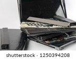 obsolete laptops isolated on... | Shutterstock . vector #1250394208