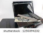 obsolete laptops isolated on... | Shutterstock . vector #1250394232