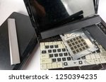 obsolete laptops isolated on... | Shutterstock . vector #1250394235