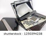 obsolete laptops isolated on... | Shutterstock . vector #1250394238