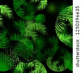 background seamless palm leaves.... | Shutterstock .eps vector #1250396635