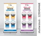 roll up banner design template  ...   Shutterstock .eps vector #1250404468