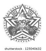 rock'n'roll stamp. vector... | Shutterstock .eps vector #125040632