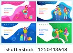 shopping family using discounts ... | Shutterstock .eps vector #1250413648
