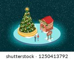 christmas holiday  market with... | Shutterstock .eps vector #1250413792