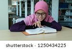 a beautiful young hijab woman... | Shutterstock . vector #1250434225