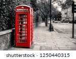 traditional red telephone box... | Shutterstock . vector #1250440315