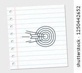 task target with white and line ... | Shutterstock .eps vector #1250442652