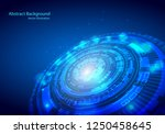 futuristic interface  hud ... | Shutterstock .eps vector #1250458645