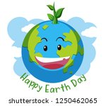 happy earth day concept... | Shutterstock .eps vector #1250462065