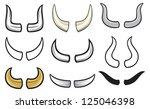 horns collection | Shutterstock .eps vector #125046398
