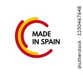 made in spain  3 colors arcs...   Shutterstock .eps vector #1250467648