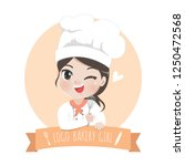 the little bakery girl chef's... | Shutterstock .eps vector #1250472568