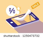shopping online with smartphone ... | Shutterstock .eps vector #1250473732