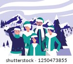 group of family with clothes...   Shutterstock .eps vector #1250473855
