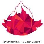 vector illustration of mountain ...   Shutterstock .eps vector #1250492095