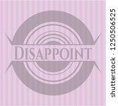 disappoint pink emblem | Shutterstock .eps vector #1250506525