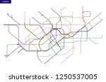 schematic transit map of the... | Shutterstock .eps vector #1250537005