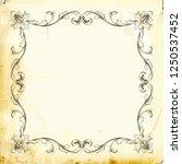 retro baroque decorations... | Shutterstock .eps vector #1250537452