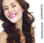 portrait of attractive ... | Shutterstock . vector #125054972