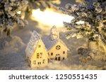 snowy village of white... | Shutterstock . vector #1250551435