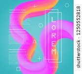 3d flow fluid shapes abstract... | Shutterstock .eps vector #1250552818