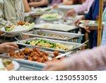buffet food  catering food... | Shutterstock . vector #1250553055
