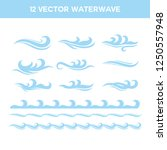wave stock image   Shutterstock .eps vector #1250557948