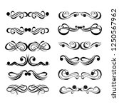 decorative monograms and... | Shutterstock .eps vector #1250567962