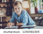 weekend at home. delighted... | Shutterstock . vector #1250582305