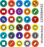 white solid icon set  splotch... | Shutterstock .eps vector #1250584432