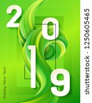 2019 happy new year background... | Shutterstock .eps vector #1250605465