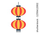 chinese paper lantern icon.... | Shutterstock .eps vector #1250612002