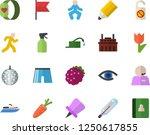color flat icon set blackberry... | Shutterstock .eps vector #1250617855